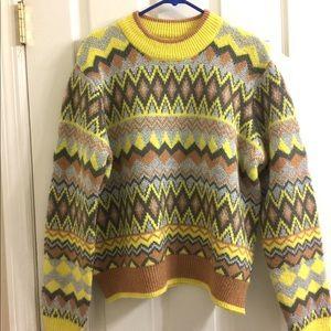 Marc New York Metallic Nordic Sweater L NWT